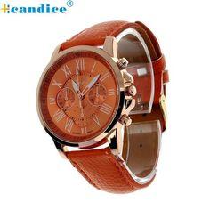 Analog Quartz Faux Leather Beautiful Roman Numeral Watch Women Relogio Wrist Watches