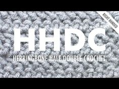 The Herringbone Half Double Crochet (HHDC) creates a fun textured pattern. The tilt of this stitch creates the Herringbone arrow-shape on the fabric. Hdc Crochet, Chunky Crochet, Crochet Hook Sizes, Crochet Classes, Crochet Videos, Knitting Videos, New Stitch A Day, Crochet Abbreviations, Crochet Instructions