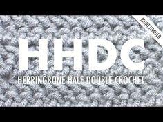 Herringbone HDC (HHDC) :: Crochet :: New Stitch a Day