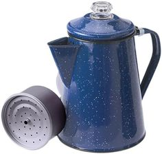 Pin it! :) Follow us :))  zCamping.com is your Camping Product Gallery ;) CLICK IMAGE TWICE for Pricing and Info :) SEE A LARGER SELECTION of  camping coffee & tea pots at  http://zcamping.com/category/camping-categories/camping-cooking-and-food/camping-coffee-and-tea-pots/ - hunting, camp coffee, camping tea pots, camping essentials, camping, camping gear - GSI Outdoors 15154 8 Cup Blue Enameled Steel Percolator « zCamping.com