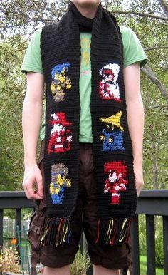 This is just the coolest!  My husband is a huge Final Fantasy fan, and I know many others who are just the same!    http://www.etsy.com/listing/91572175/final-fantasy-scarf-with-white-mage