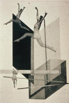 Human Mechanics | Laszlo Moholy-Nagy | 1925 photo-montage, Dada style.