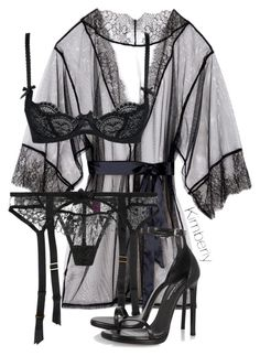 Little Black Robe & Lingerie ❤ Agent Provocateur and Yves Saint Laurent Lingerie Satin, Lingerie Chic, Belle Lingerie, Lingerie Outfits, Pretty Lingerie, Beautiful Lingerie, Lingerie Sleepwear, Women Lingerie, Bridal Lingerie
