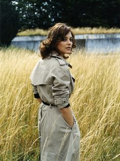 love her trench coat, and her hair