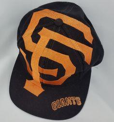 5d7ba34db91 San Francisco Giants Vintage Snapback The Game Big Logo Hat MLB Cap Rare  Starter Giant Vintage