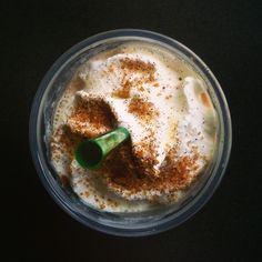 """Chestnut Praline Frappuccino to get me through this eleven hour Saturday."" by IG user: eringerrard"