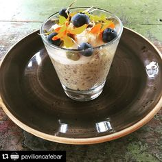 #Repost @pavilioncafebar  A sneak peak at our Autumn Menu  Quinoa Chia and Banana Bircher with mixed nuts pepitas blueberries banana chips and topped off with coconut yoghurt! Delicious and healthy: Dairy Free Gluten Free and Vegan #bircher #breakfast #chia #quinoa #autumn #healthy #clean #vegan #glutenfree #dairyfree #coconutyoghurt #coyo #pavilion3280 #eat3280 @destinationwarrnambool by destinationwarrnambool