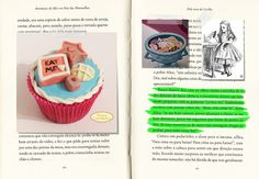 Cupcake Alice no País das Maravilhas. Beijos Açucarados