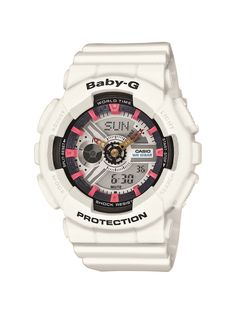 8c73cb6945b The digital-analog design so popular in the G-Shock models has been sized  down for women in the Baby-G line. Water and shock-resistant