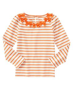 Striped Bow Top at Gymboree