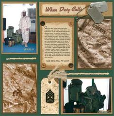 military scrapbook ideas - Google Search