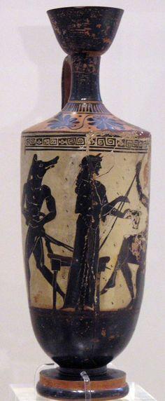 Circe and Odysseus (ca. 490-480), Lekythos from Eretria