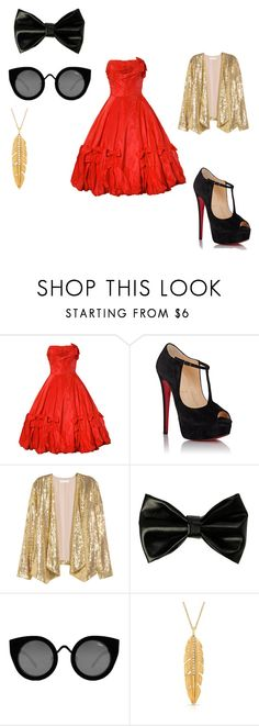 """""""50's Gaston"""" by ellie-leigh-caley on Polyvore featuring Christian Louboutin and Quay"""