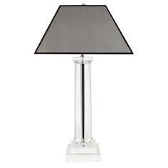 De Trendy Sfeerverlichting; Eichholtz Table Lamp Kensington Bureaulamp is een lamp van 85 cm hoog. De standaard is van kristal glas gemaakt en is 11 cm breed. De lampenkap is 46 cm breed. Het maximale vermogen van deze lamp is 60 Watt. Deze met de handgemaakte lampen geven een extra karakteristieke uitstraling aan uw huis.