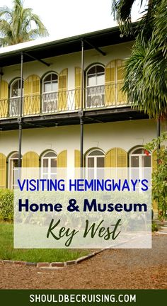 A visit to Key West, Florida isn't complete without touring Ernest Hemingway's house. The writer lived there in the 1930s with his family and a slew of six-toed cats. Come along with me as I explore the interior and exterior of the Hemingway Home and Museum.