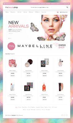 Webwinkel in huidverzorgingsproducten #webdesign Template 44026 http://www.zign.nl/