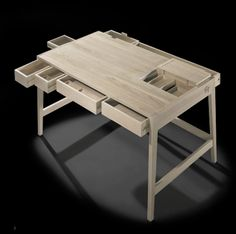This Sleek Desk Has All the Drawers You'll Ever Need. I'm thinking dinner table for a small place.