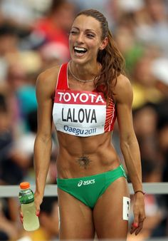 Sprinters bodies are where it's at.  Amazing.  Ivet Lalova.