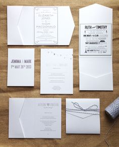 diy art deco wedding invitations - Google Search
