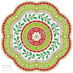 Christmas • Frohe Weihnachten, メリークリスマス, Merry Christmas, Joyeux Noël • freestanding, round and foldable greeting-card for standard envelopes • cc155.03 • #Karte #Dekoration #Mandala #rund #Weihnachten #Papier www.centuryo.com