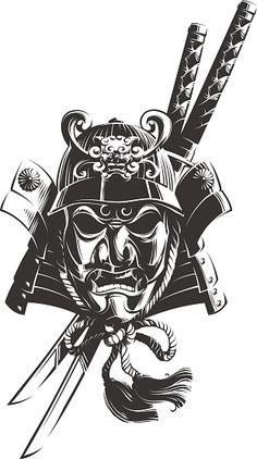 Japanese Mask Tattoo, Japanese Tattoo Symbols, Japanese Tattoo Designs, Ronin Tattoo, Samurai Mask Tattoo, Samurai Drawing, Samurai Artwork, Hannya Samurai, Japanese Art Samurai