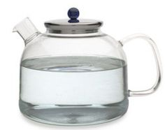 German Glass Kettle with Stainless Steel Lid 7.5 Cups