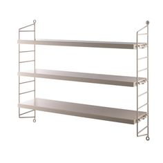 The String Pocket rack is the smallest member of the String family. With two side panels and three shelves, it is a rack that fits almost anywhere. String Pocket, Shelf System, Shelving Systems, Shop Interior Design, Design Shop, Wall Racks, Wall Shelves, Decoraciones Ramadan, String Regal