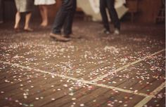 Dancing is more fun when there's confetti on the floor.