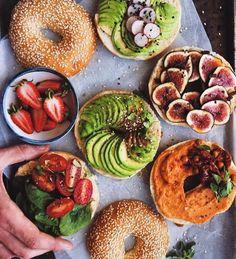 Imagen de food, healthy, and bagel