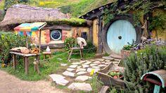 Hobbiton House blue in New Zealand