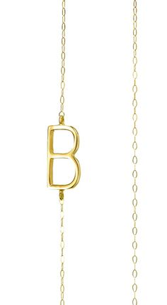 Albeit Jewelry pendant necklaces 14k horizontal necklaces, B initial necklace, B pendant necklace, B necklace $315