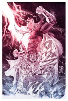 """""""Shazam"""" by Francis Manapul. #illustration #superhero"""