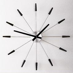 Chrome star clock