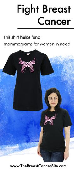 At The Breast Cancer Site, every purchase helps fund mammograms for women in need.   Shop unique jewelry, clothing & gifts that fight breast cancer! Find this tee here: www.Shop2Give.us/ShopToFightBC