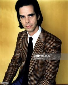 Nick Cave poses for a portrait shoot in London, 22nd May 2000.