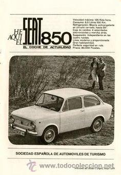 Página Publicidad Original de *SEAT 850*  ---  Año 1966