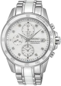Seiko Sportura Chronograph for Her With Ceramic Elements