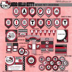 Hello Kitty Party: Allie's Nerd Hello Kitty Birthday Bash #nerdhellokitty www.mimisdollhouse.com
