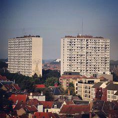 by travelformotion: #high rising #buildings #flats #rabot #ghent #gent #visitgent #igbelgium #city #landscape #houses