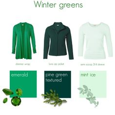 Winter greens by kettlewellcolours on Polyvore featuring Mode