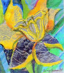 Abstract Flowers Featured Images - Daffodil Abstract  by Mindy Newman