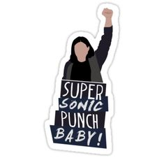 'Super Sonic Punch - Cisco' Sticker by vrink Tumblr Stickers, Phone Stickers, Cute Stickers, Planner Stickers, The Flash Cisco, Flash Funny, Flash Wallpaper, The Flash Grant Gustin, Aesthetic Stickers