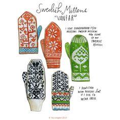 Lisa Congdon Art + Illustration » swedish mittens