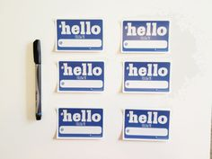 Social Media Name Tags for the Geek at Heart. Would be cute for a #teamboy or #teamgirl gender reveal party.