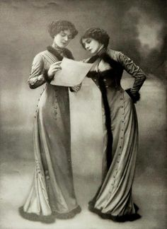 FB The Edwardian Society 1909, Les Modes (Paris) Robe Princesse and Robe Directoire by Goldenberg