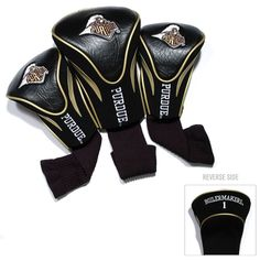 Purdue Boilermakers Golf Club 3 Piece Contour Headcover Set