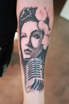 Billie Holiday tattoo by Nis Staack (Denmark)