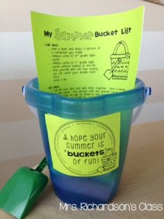Summer bucket list for students that they LOVED! Parents loved the list of ideas, too!!