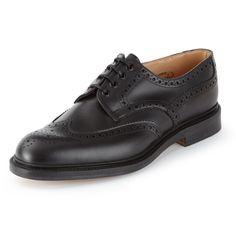 Alfred Sargent Hamstead Black Calf - Pediwear Footwear