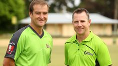 Crucial: Sutherland captain-coach Phil Jaques (left) and Shane Duff, were named co-coaches of the new Sydney Thunder 'Big Bash' franchise. Picture: Chris Lane